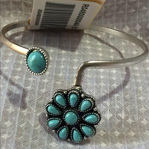 Brandy Melville Turquoise & Silver Cuff Bracelet